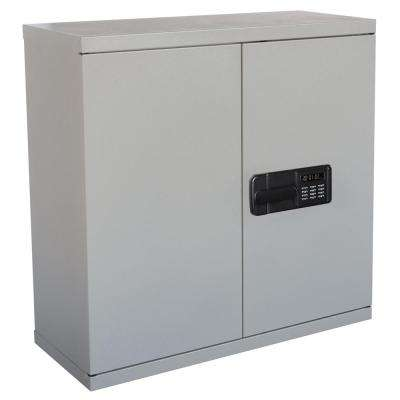30 in. H x 30 in. W x 12 in. D Steel Wall Storage Cabinet in Dove Gray