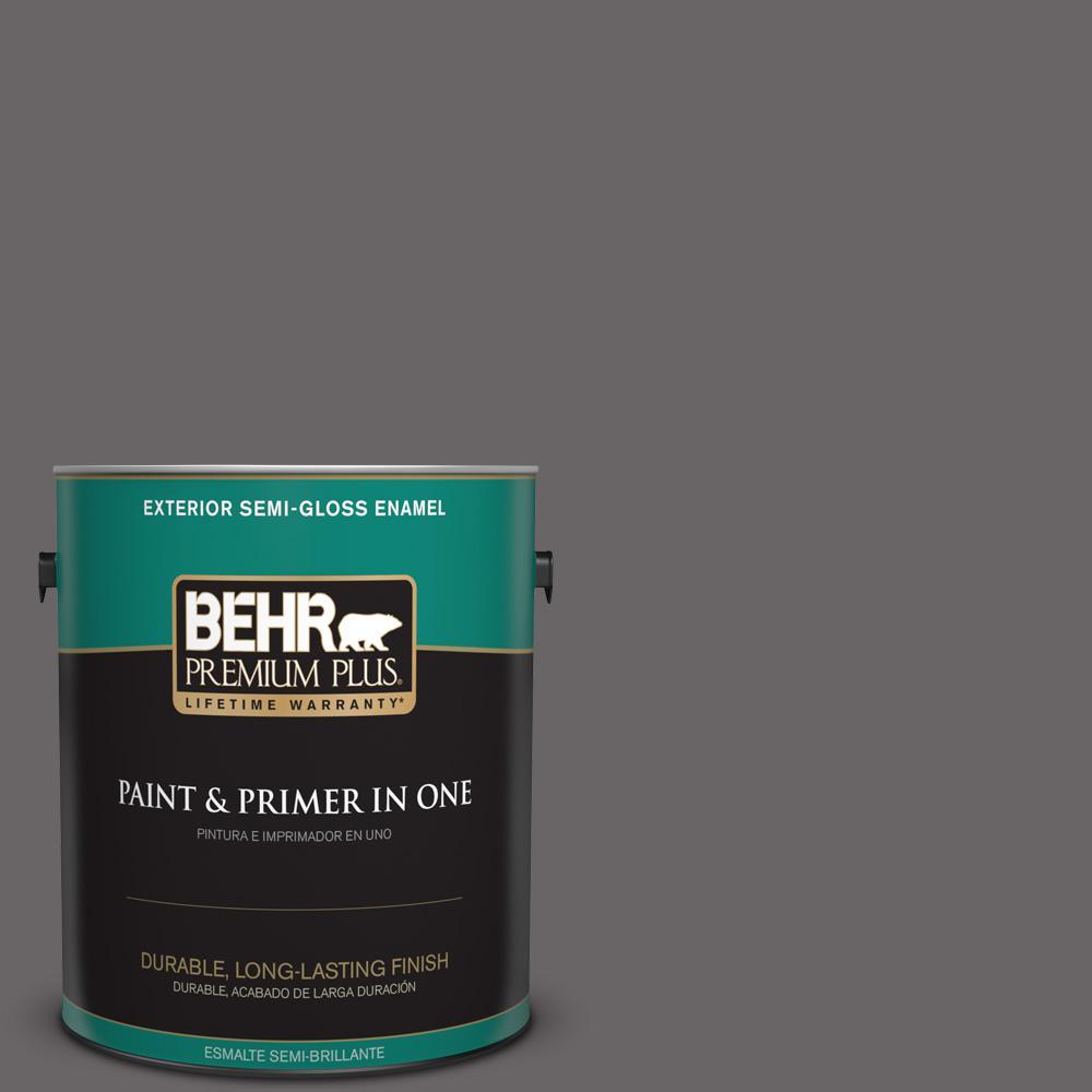1 gal. #PPU17-19 Arabian Veil Semi-Gloss Enamel Exterior Paint