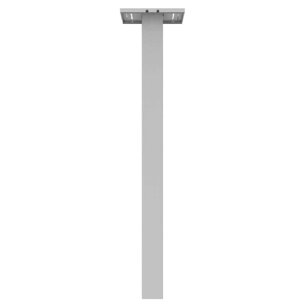 4 in. x 4 in. x 5 ft. White Vinyl Mailbox Fence Post Stan...
