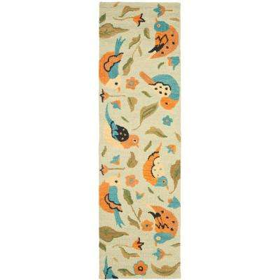 Blossom Sage/Multi 3 ft. x 10 ft. Runner Rug