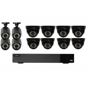 Q-SEE 16-Channel 1080p Indoor/Outdoor Surveillance 2TB DVR System with (8)  HD Dome Cameras and (4) HD Bullet Cameras-QTH163-12DJ-2 - The Home Depot