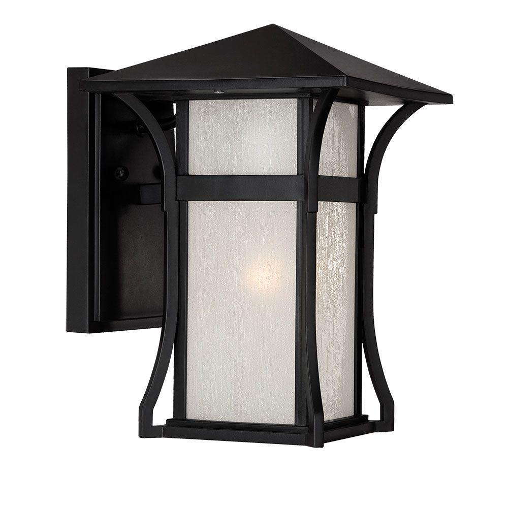 Acclaim Lighting Tahiti Collection 1-Light Outdoor Matte Black Wall Lantern Sconce