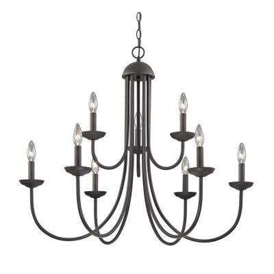 Williamsport 9-Light Oil-Rubbed Bronze Chandelier