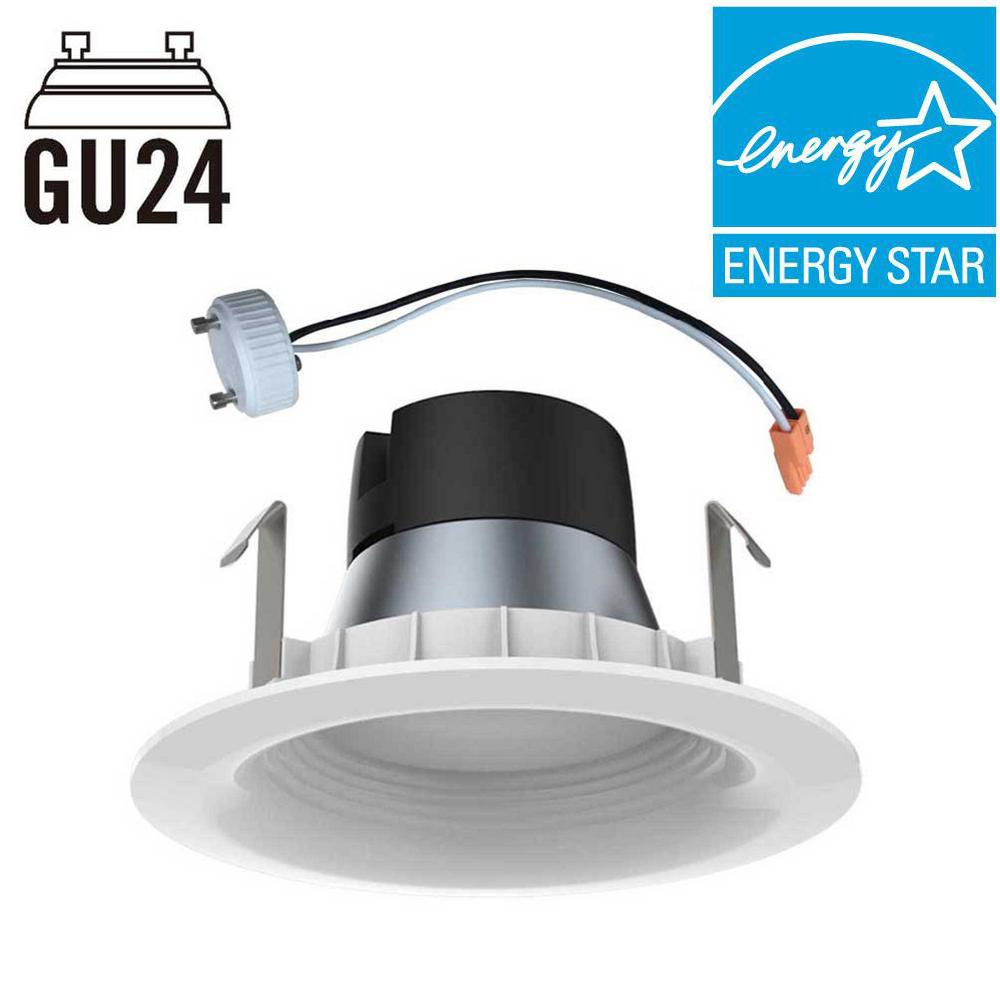Shop Project Source 13 In W Bronze Integrated Led Ceiling: EcoSmart 65W Equivalent Daylight 4 In. GU24 Dimmable