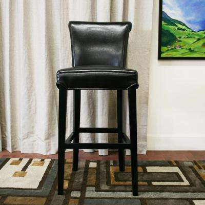 Baxton Studio Bianca Brown Faux Leather Upholstered 2-Piece Bar Stool Set