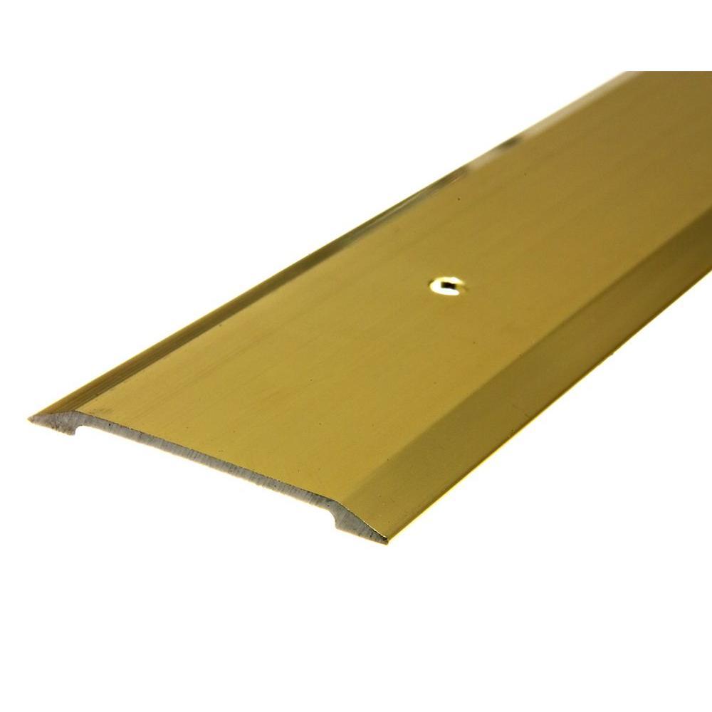 E/O 1-3/4 in. x 36 in. Brite Gold Saddle Threshold for Interior Doorways