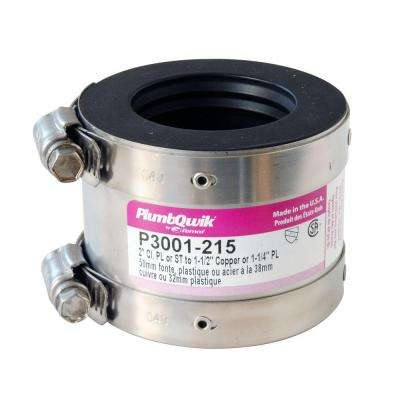 Proflex 2 in. x 1-1/2 in. Neoprene Shielded Coupling