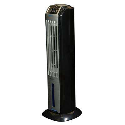320 CFM 3-Speed Portable Evaporative Air Cooler  (Swamp Cooler) and Tower Fan with Remote for 100 sq. ft.