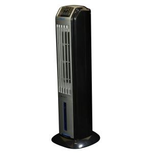 Click here to buy NewAir 320 CFM 3-Speed Portable Evaporative Cooler and Tower Fan with Remote for 100 sq. ft. by NewAir.
