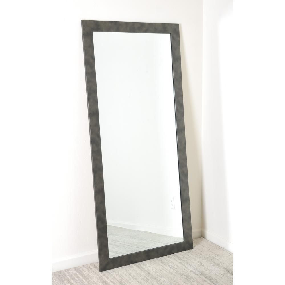 Clouded Gunmetal Tall Floor Wall Mirror