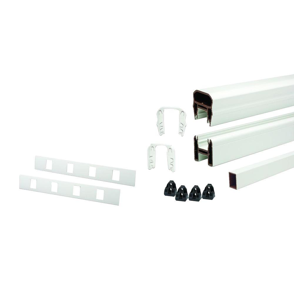 Trex Transcend 91.5 In. Composite Classic White Stair Rail Kit With 17  Balusters