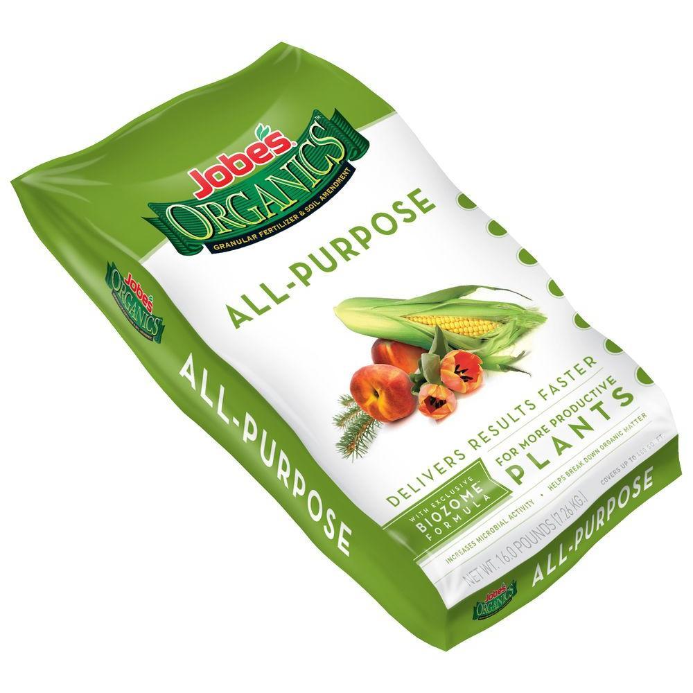16 lb. Organic All Purpose Plant Food Fertilizer with Biozome, OMRI Listed