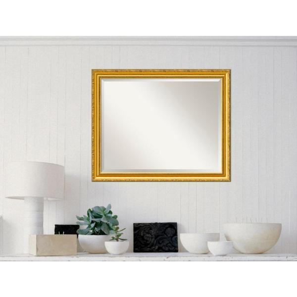 Amanti Art Colonial Embossed Gold Wood 32 in. W x 26