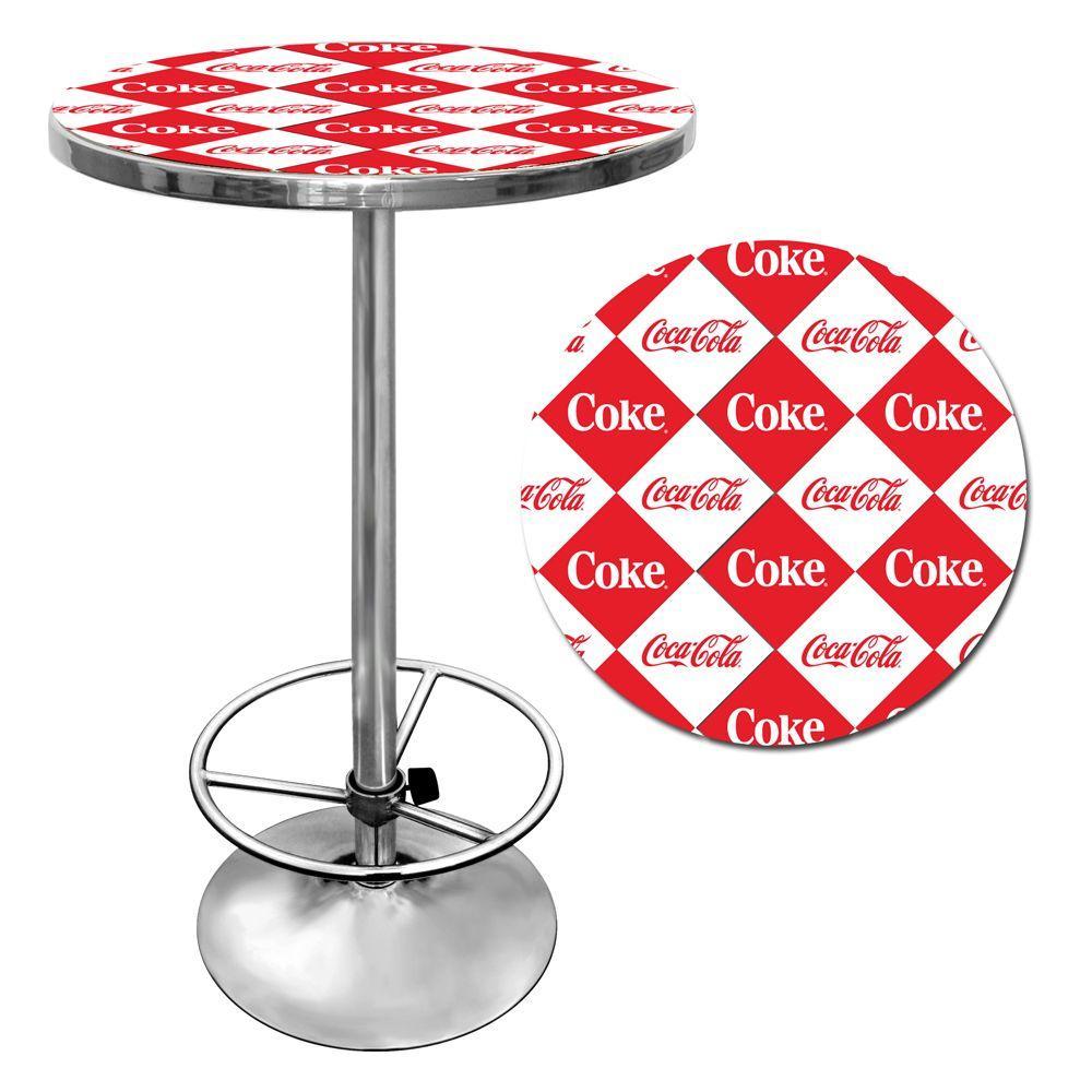 Checker Coca-Cola Chrome Pub/Bar Table