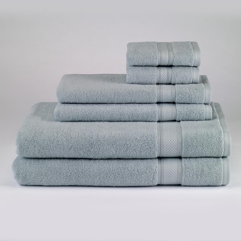 Avanti Linens Solid 6-Piece Bath Towel Set in Surf Blue