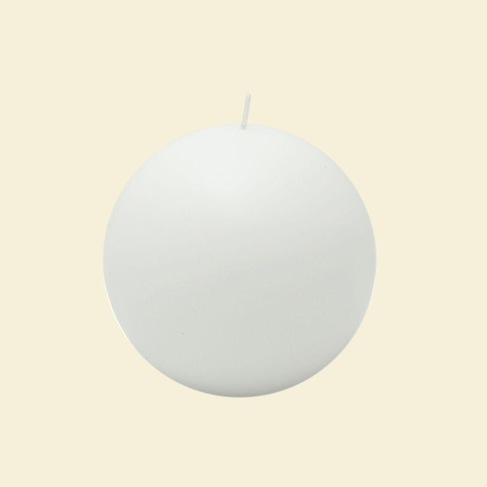Zest Candle 4 in. White Ball Candles (2-Box)