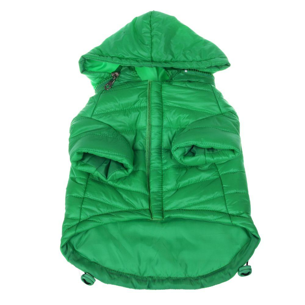 Small Fresh Green Lightweight Adjustable Sporty Avalanche Dog Coat with