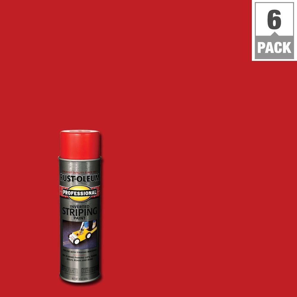 Rust-Oleum Professional 18 oz. Red Striping Spray Paint (...