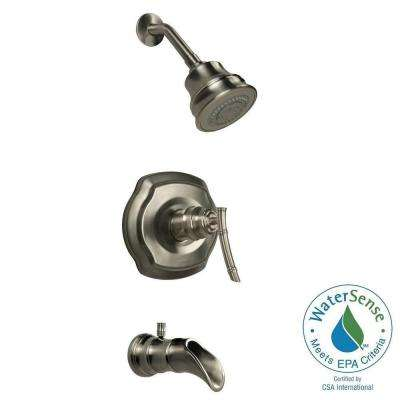 Bamboo WaterSense Single-Handle 3-Spray Tub and Shower Faucet in Brushed Nickel