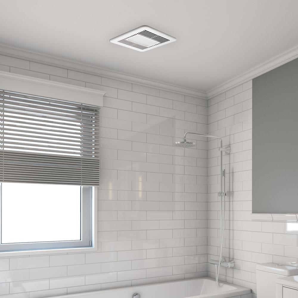 Signature G2 110 CFM Ceiling Adjustable Humidity Sensor Bathroom Exhaust Fan with Night-Light