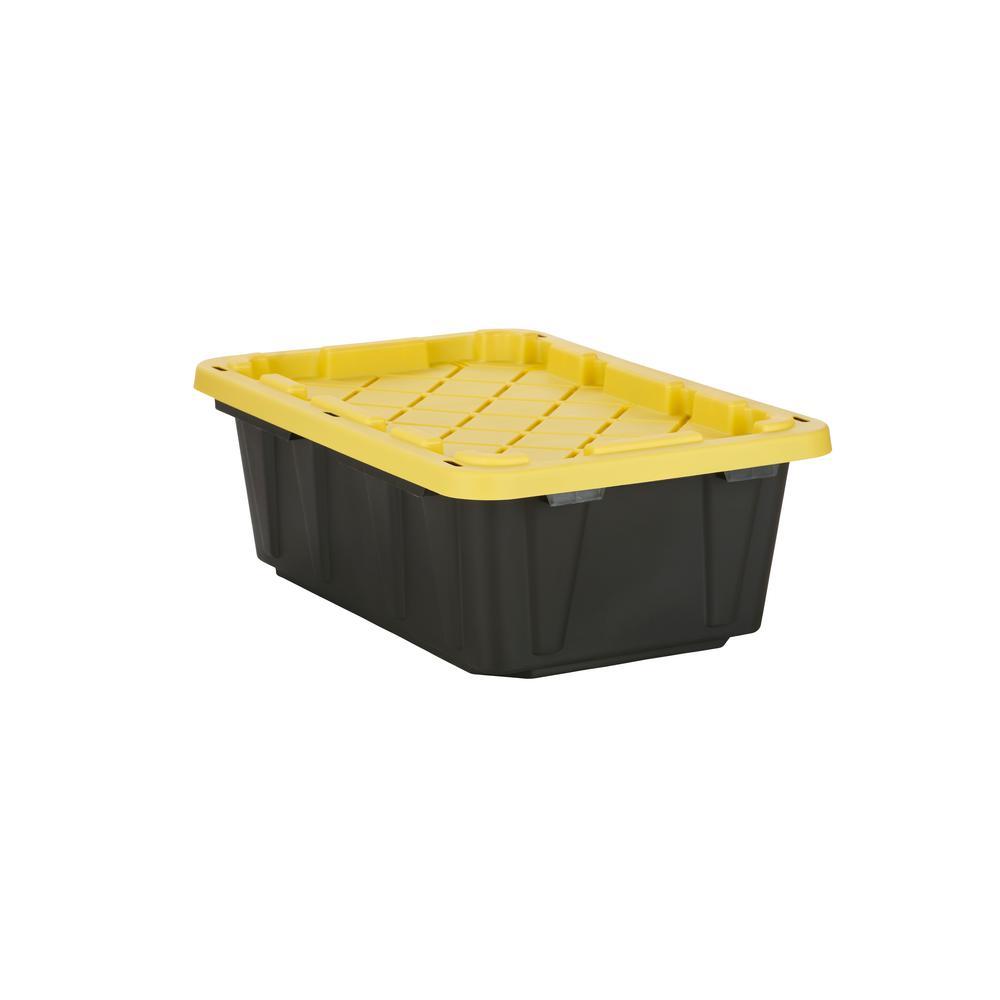 14-Gal. Tough Storage Bin in Black