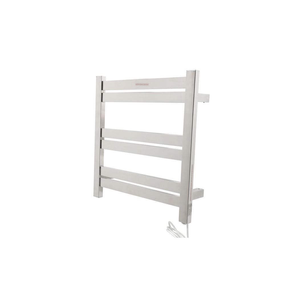 Big Size Stainless Towel Warmer Heated Towel Rack: ANZZI Starling 6-Bar Stainless Steel Wall Mounted Electric