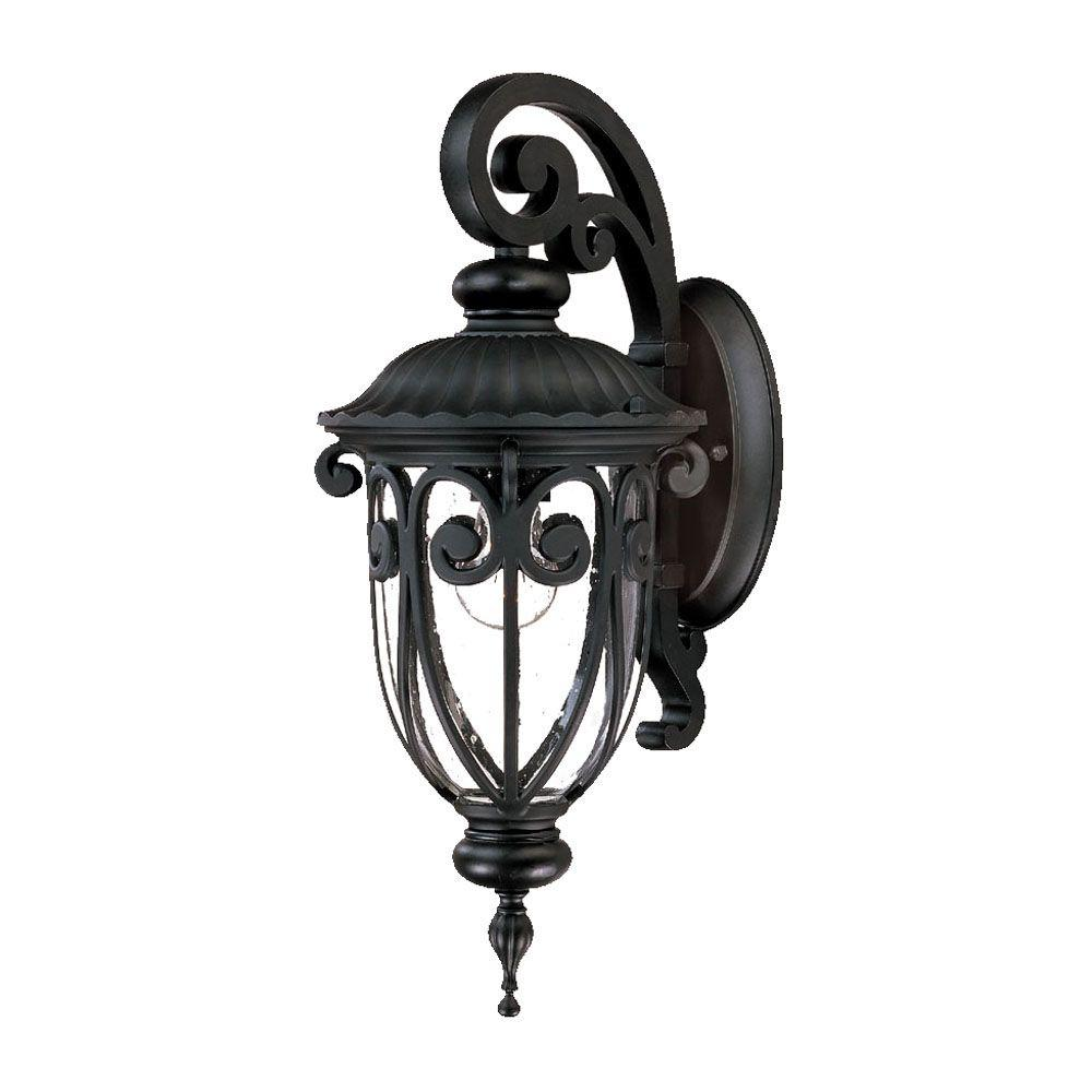 Acclaim Lighting Naples Collection Wall-Mount 1-Light Outdoor Matte Black Light Fixture