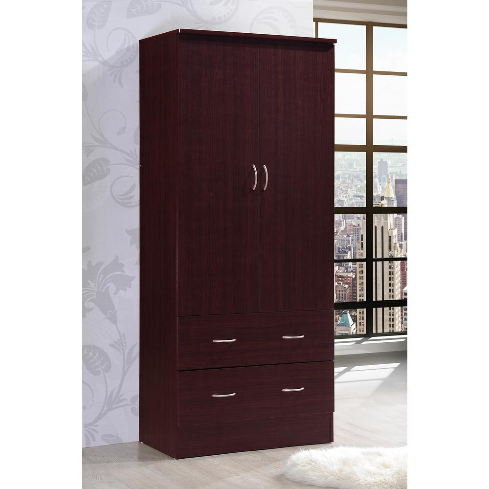 armoires wardrobes bedroom furniture the home depot. Black Bedroom Furniture Sets. Home Design Ideas