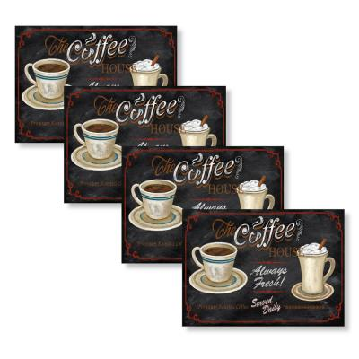 Coffee House 18 in. W x 13 in. L Polypropylene 4-pack Placemat Set