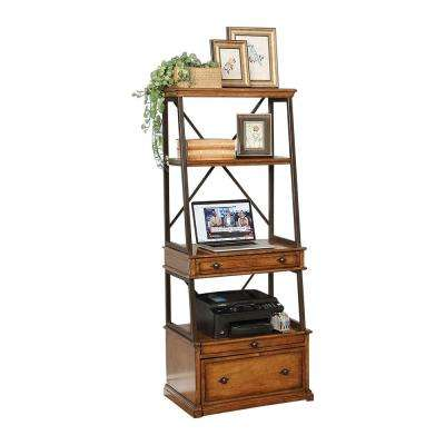 Weston Country Antique Coffee Wood Caddie Desk
