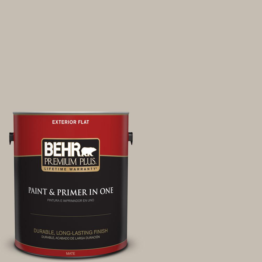 BEHR Premium Plus 1-gal. #N320-3 Tanglewood Flat Exterior Paint ...