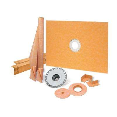 Kerdi-Shower-Kit 48 in. x 72 in. Shower Kit with PVC Flange