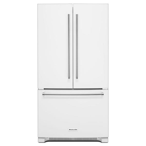 20 cu. ft. French Door Refrigerator in White, Counter Depth