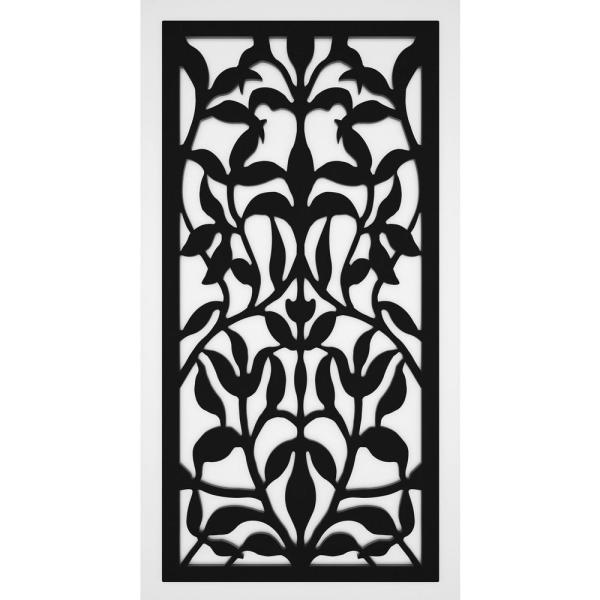 Tuscan Olive 2 ft. x 4 ft. Black Vinyl Decorative Screen Panel (Pack of 2)
