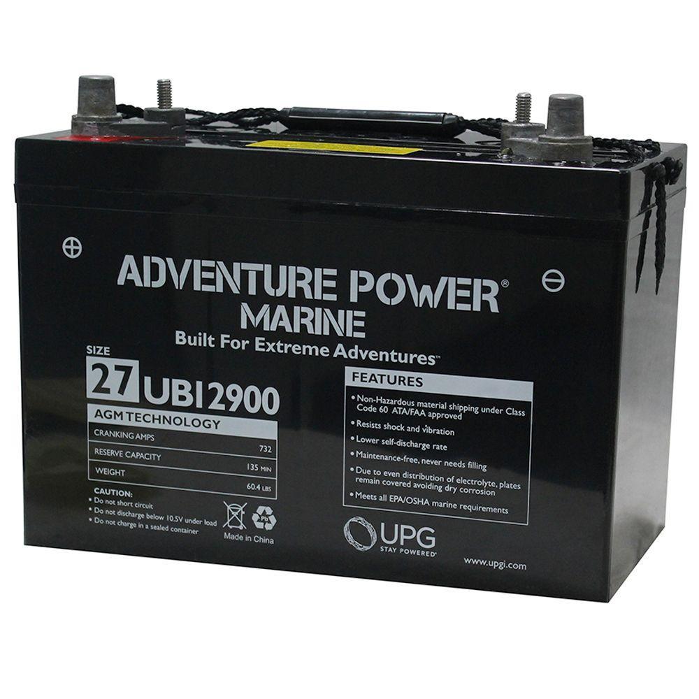 UPG Series 27, 12-Volt Marine Post Battery