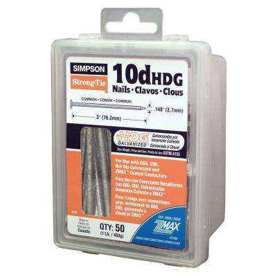 Strong-Drive 10d x 3 in. SCN Smooth-Shank Connector Nail (1 lb.)