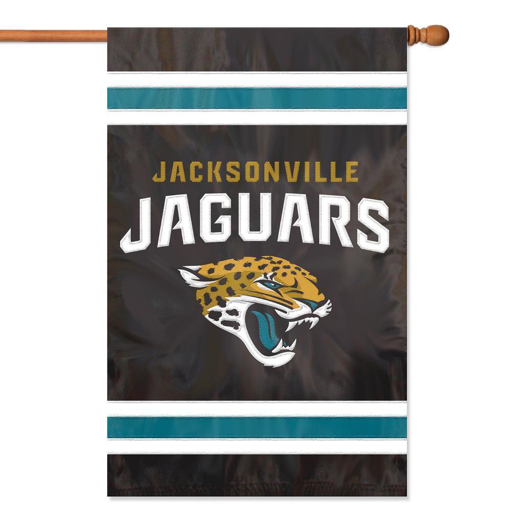 Jacksonville Jaguars Applique Banner Flag