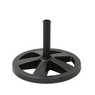 Sanne 23.94 lbs. Concrete Patio Umbrella Base in Hammered Iron