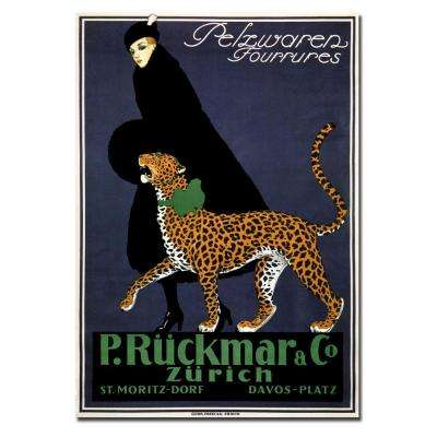 "32 in. x 24 in. ""P. Ruckmar & Co."" Printed Canvas Wall Art"