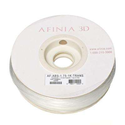 Value-Line 1.75 mm Transparent ABS Plastic 3D Printer Filament (1kg)