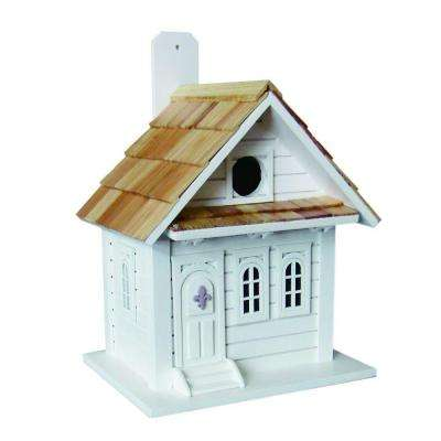 Shotgun Cottage Birdhouse (White)