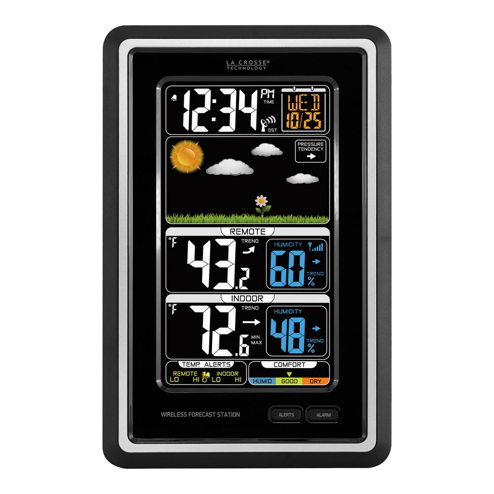 Digital Vertical Wireless Forecast Station with Temperature Alerts