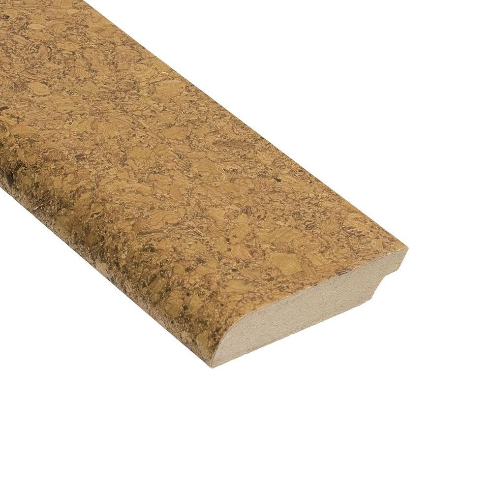 Home Legend Natural Basket Weave 1/2 in. Thick x 2-3/8 in. Wide x 94 in. Length Cork Wall Base Molding