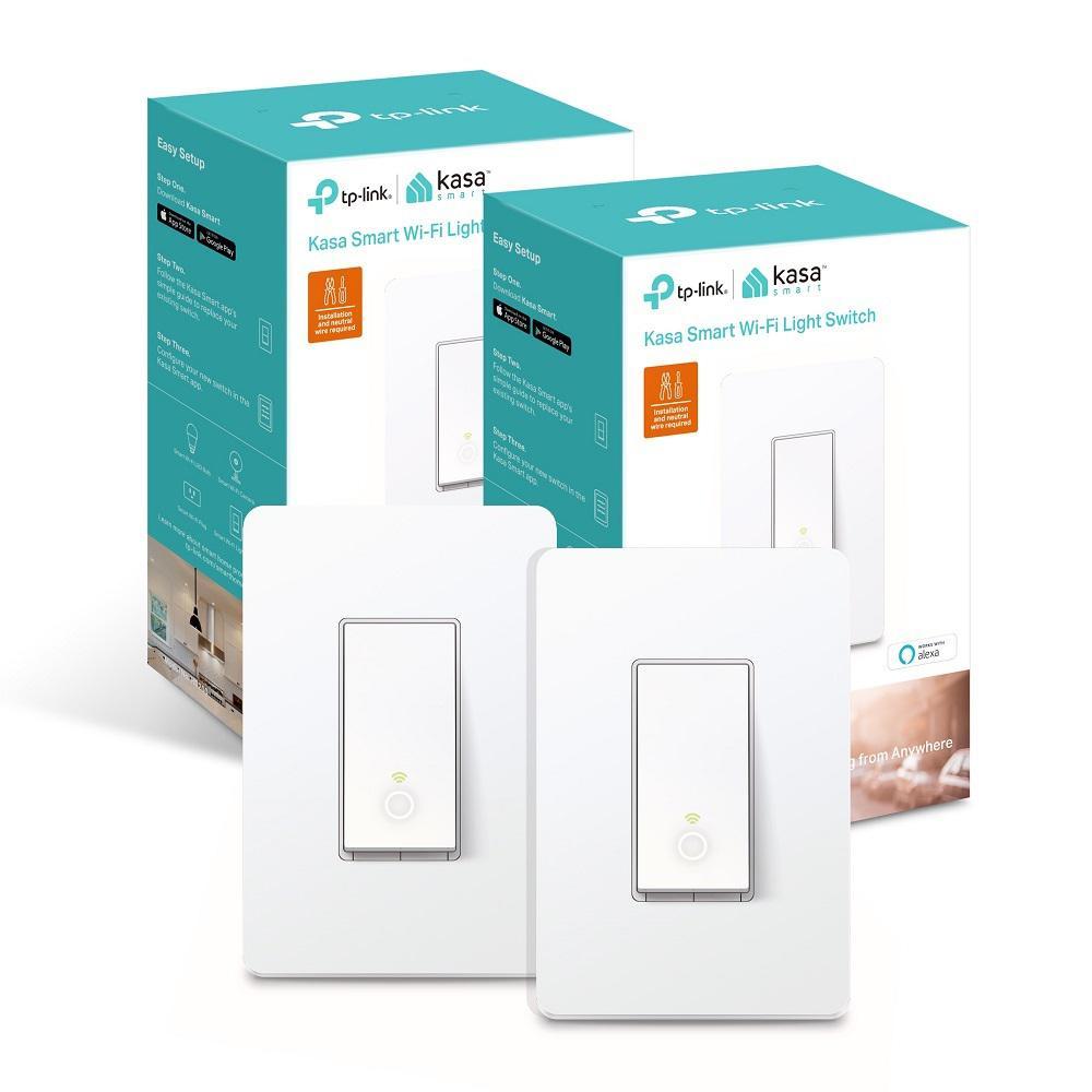 Smart Wi-Fi Light Switch Energy Monitoring (2-Pack)