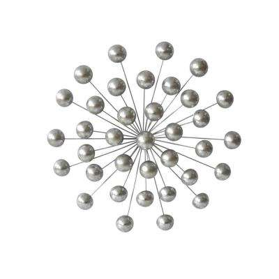 Silver Orb Wall Sculpture 21""