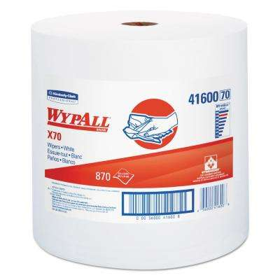 X70 Jumbo Roll White Perforated Wipes (870-Count)