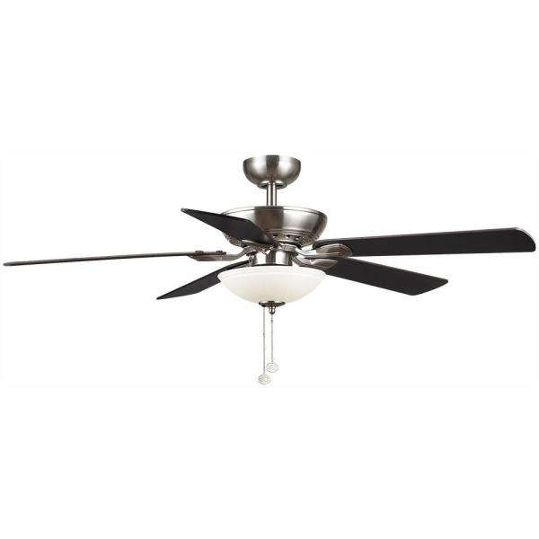 Connor 52 in. Integrated LED Brushed Nickel Ceiling Fan with Light Kit