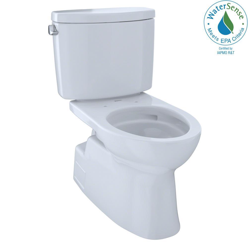 Vespin II 2-Piece 1.28 GPF Single Flush Elongated Toilet in Cotton White