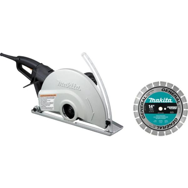 Makita 14 in. Electric Angle Cutter with 14 in. Diamond Blade
