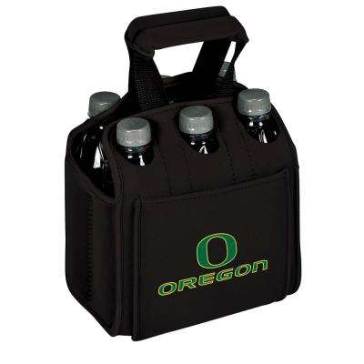University of Oregon Ducks 6-Bottles Black Beverage Carrier